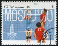Voleibol del Poststamp Imagenes de archivo