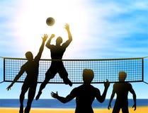 Voleibol del verano Fotografía de archivo