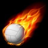 Voleibol do incêndio ilustração do vetor