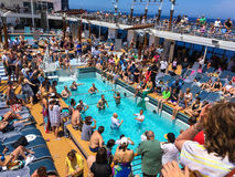 Voleibol do navio de cruzeiros Imagem de Stock Royalty Free