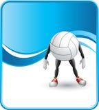 Voleibol dos desenhos animados Fotografia de Stock Royalty Free