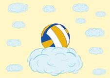 Voleibol en una nube Imagenes de archivo