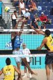 Voleibol europeo de la playa del campeonato Fotos de archivo