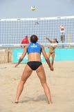 Voleibol europeo de la playa del campeonato para las mujeres Imagenes de archivo