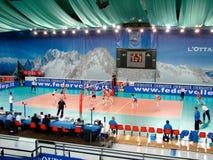 Voleibol: France de encontro a Rússia Fotos de Stock