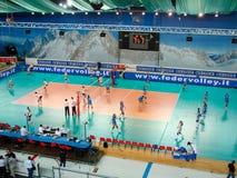 Voleibol: Italia contra Alemania Imagenes de archivo