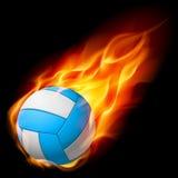Voleibol realístico do incêndio ilustração royalty free
