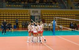 Voleibol ruso de las mujeres Foto de archivo