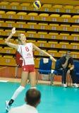 Voleibol ruso de las mujeres Fotografía de archivo libre de regalías