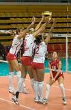 Voleibol ruso de las mujeres Fotografía de archivo