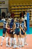 Voleibol ruso de las mujeres Imagen de archivo libre de regalías