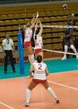 Voleibol ruso de las mujeres Imagen de archivo
