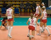 Voleibol ruso de las mujeres Imágenes de archivo libres de regalías
