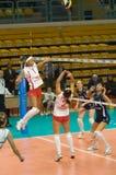 Voleibol ruso de las mujeres Foto de archivo libre de regalías