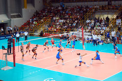 Voleibol: Test match de Preolympic Foto de Stock Royalty Free