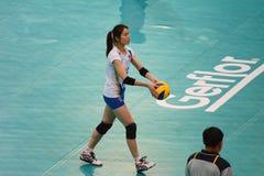 Voleibol WGP: Dominican CONTRA Tailândia Foto de Stock Royalty Free