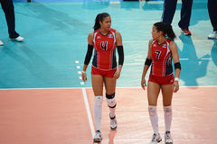 Voleibol WGP: Dominican CONTRA Tailândia Imagens de Stock Royalty Free