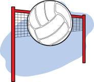 Voleibol y red Imagen de archivo