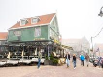 Volendam in fog Royalty Free Stock Photos