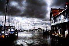 Volendam-Hafen Stockfotos