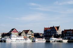Volendam Hafen, Holland Stockbilder