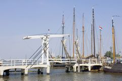Volendam Harbor Stock Images
