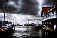 Volendam Harbour Stock Photos