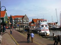 Volendam Harbour, Holland Stock Images