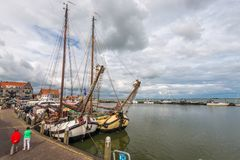 Volendam port , The Netherlands Royalty Free Stock Photography