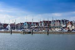 Volendam seen from a ship, The Netherlands