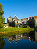 Volendam Streets. Volendam is a popular tourist attraction in the Netherlands, well-known for its old fishing boats and the traditional clothing still worn by Stock Image