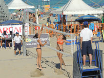 Voleo U19 - U21 de la playa Imagen de archivo