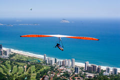 Voler au-dessus de la plage Images stock