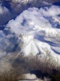 Voler au-dessus du Groenland Photos stock