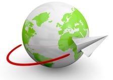 Voler autour du monde - 3D Image stock