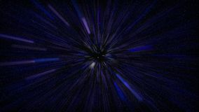 Voler dans l'espace bleu Photo stock