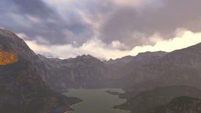 Voler dans le ciel de cumulus illustration de vecteur