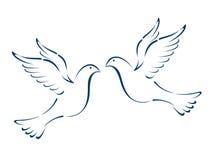 voler de colombes illustration de vecteur