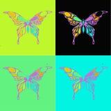 Voler différent de beaucoup de papillons, Image libre de droits