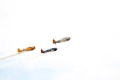Voler militaire d'avions de vintage Photo libre de droits