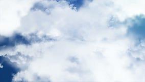 Voler par des nuages Photographie stock libre de droits