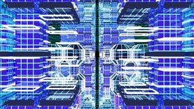 Voler par le cyberespace illustration stock