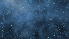 Voler par un gisement d'étoile illustration libre de droits