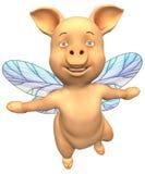 Voler porcin illustration stock