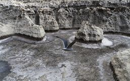 Voler : Vue volcanique particulière à Malte Photo stock