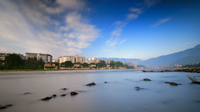 Volet lent de la rivière de Qingyi Photo libre de droits