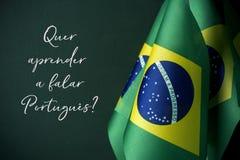 Volete imparare il Portoghese, in portoghese immagine stock libera da diritti