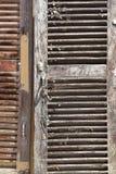 Volets en bois Photographie stock libre de droits