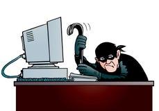 Voleur d'ordinateur Images libres de droits