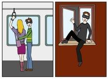 Voleur dans l'action illustration stock
